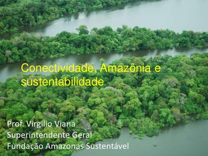 Conectividade, Amazônia e sustentabilidade<br />Prof. Virgilio Viana<br />Superintendente Geral<br />Fundação Amazonas Sus...