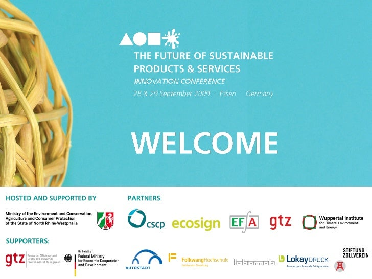 The Future of Sustainable Products and Services - Conference Day 1