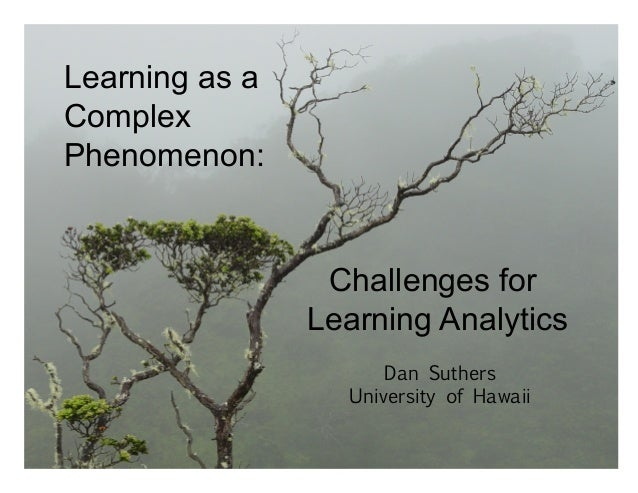 Supported by the National Science Foundation Challenges for Learning Analytics Dan Suthers University of Hawaii Learning a...