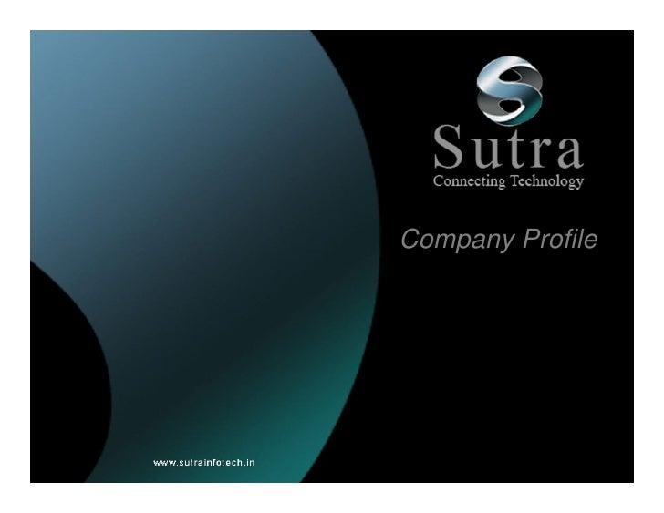 Sutra Company Profile
