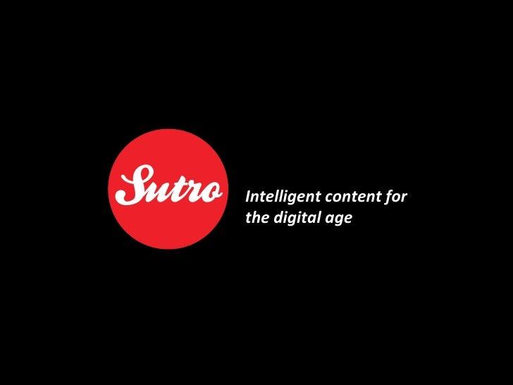 Sutro Digital: Intelligent content for the digital age
