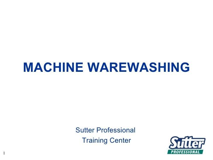 Warewashing by Sutter Chemicals