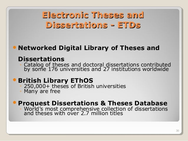 search for thesis dissertation