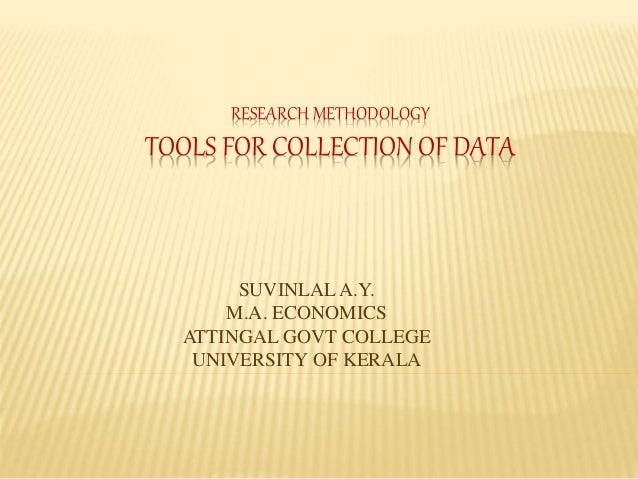 research methodology tools for data collection