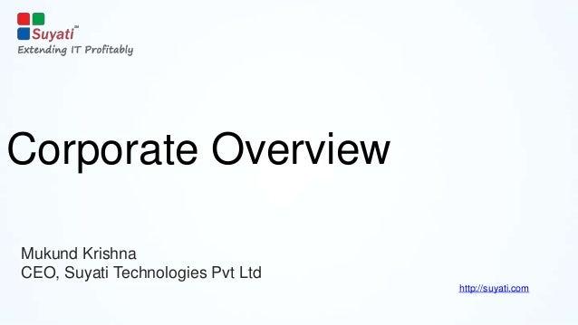 Corporate Overview - Suyati Technologies