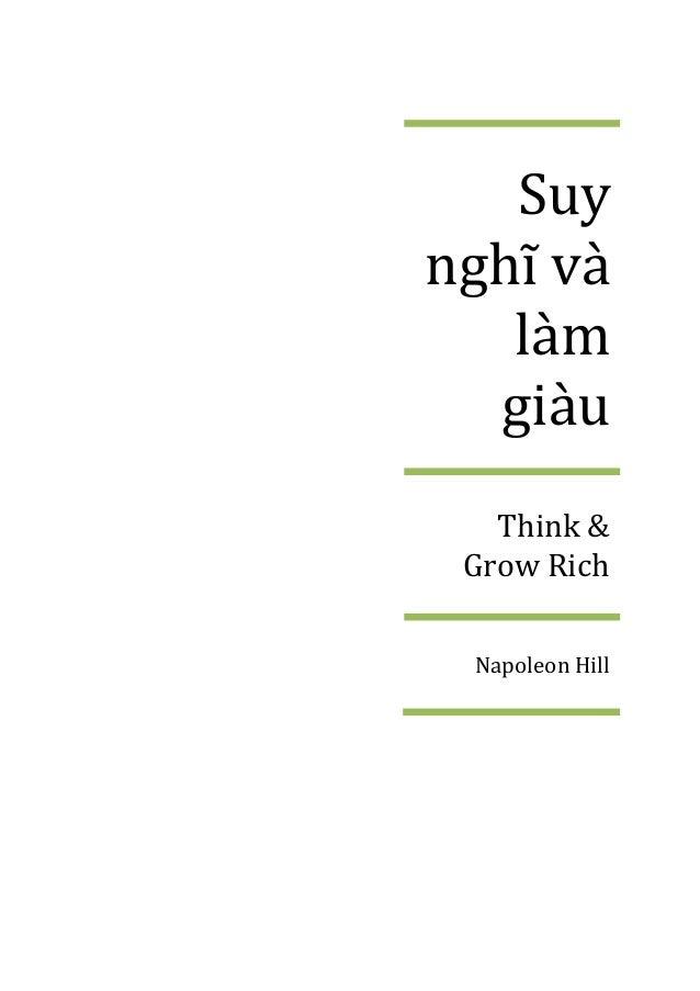 Suy nghĩ v{ làm giàu Think & Grow Rich Napoleon Hill
