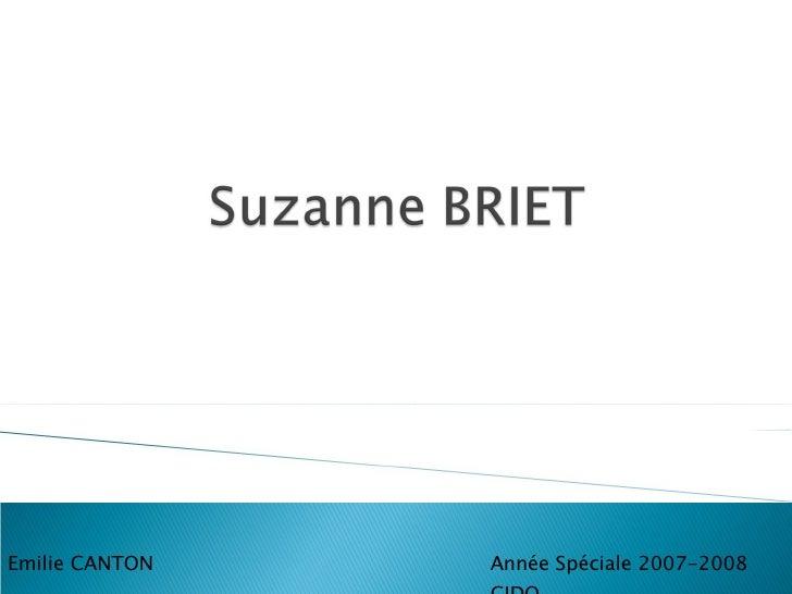 Année Spéciale 2007-2008 GIDO Emilie CANTON