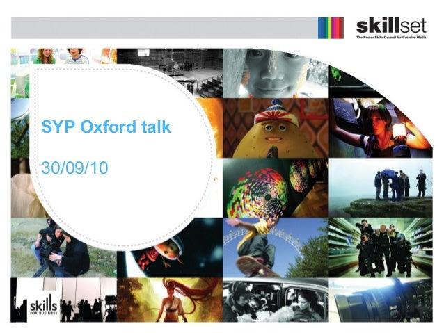 Suzanne kavanagh skillset syp oxford presentation