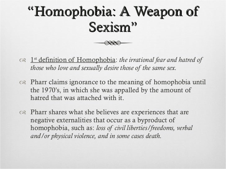 Should i define homophobic or failure for my definition essay?