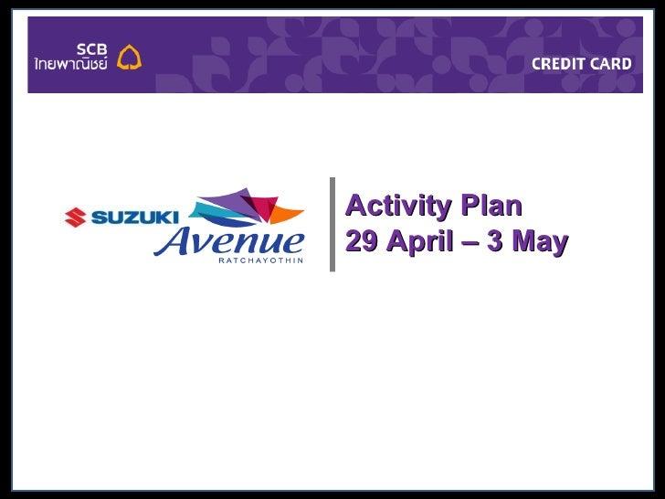 Suzuki Avenue Sponsership Scb