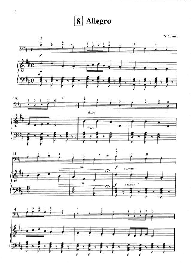 Allegro Cello Suzuki