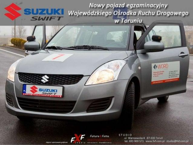 Czynności kontrolno-obsługowe Suzuki Swift