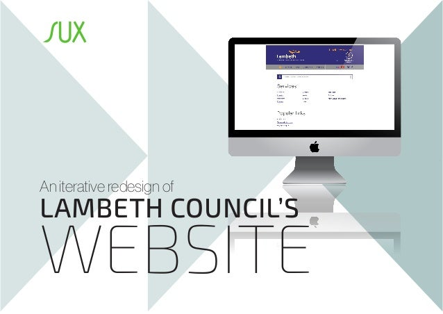 An iterative redesign of  LAMBETH COUNCIL'S  WEBSITE