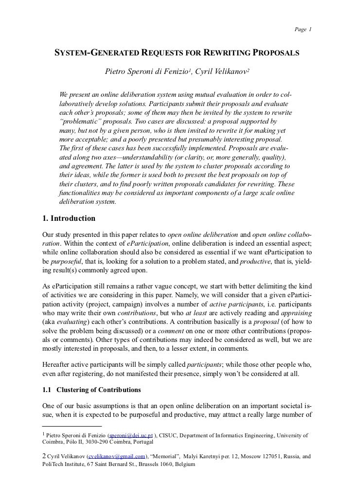 Paper at ePart 2011: System Generated Requests for Rewriting Proposals