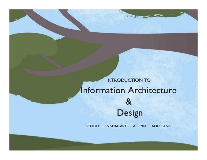 Sva Intro to Information Architecture & Design Fall 09