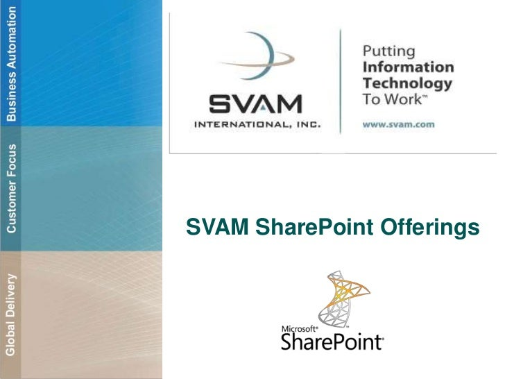 SVAM SharePoint Offerings