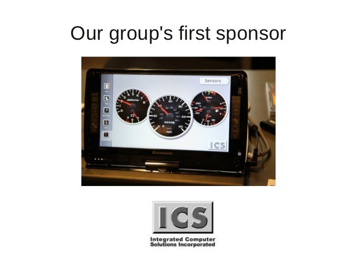 Our groups first sponsor