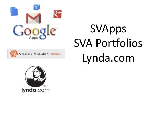 SVAppsSVA Portfolios Lynda.com