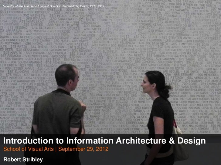 Introduction to Information Architecture and Design - SVA Workshop 0929