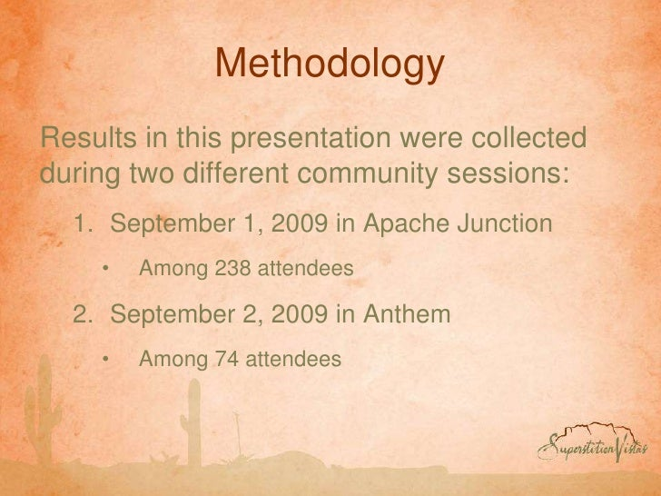 Methodology<br />Results in this presentation were collected during two different community sessions:<br />September 1, 20...