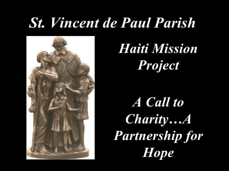 SVdP Parish Haiti Presentation