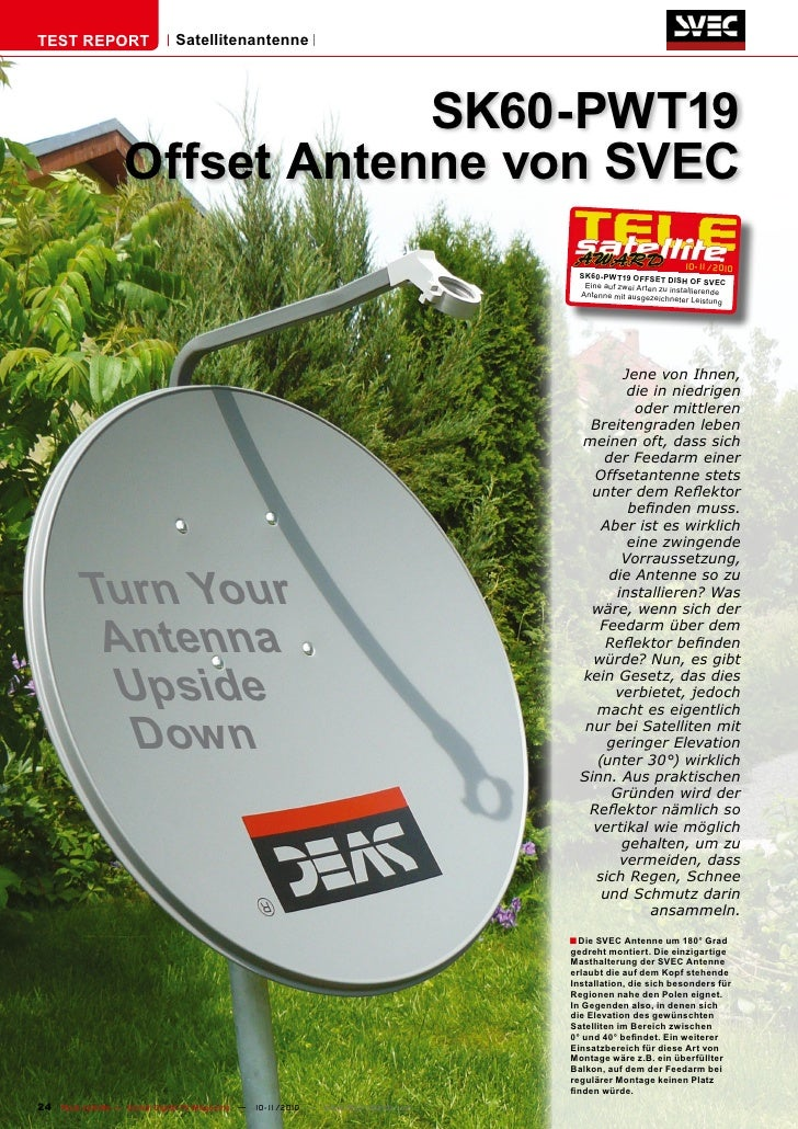 TEST REPORT                   Satellitenantenne                               SK60-PWT19                   Offset Antenne ...