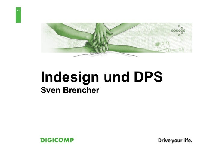 1    Indesign und DPS    Sven Brencher