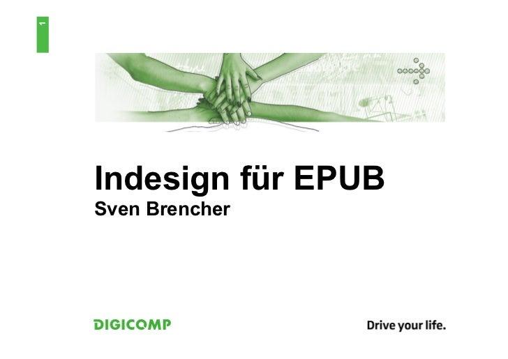 1    Indesign für EPUB    Sven Brencher