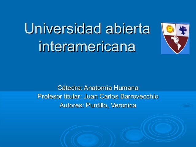Universidad abiertaUniversidad abierta interamericanainteramericana Cátedra: Anatomìa HumanaCátedra: Anatomìa Humana Profe...