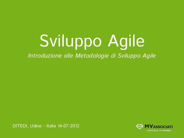 Introduzione alle metodologie di sviluppo agile