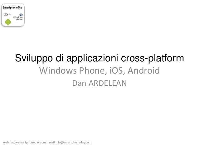 Sviluppo di applicazioni mobile cross platform