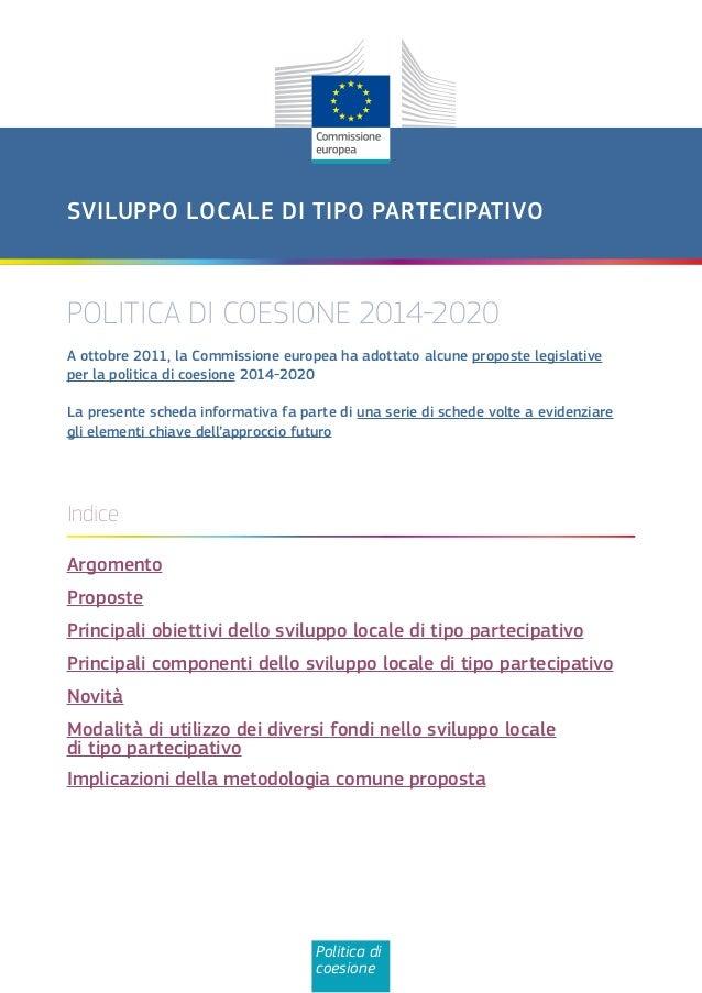 Sviluppo locale partecipativo   politiche coesione ue 2014-2020