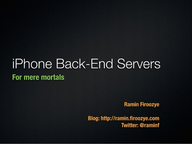 iPhone Back-End Servers