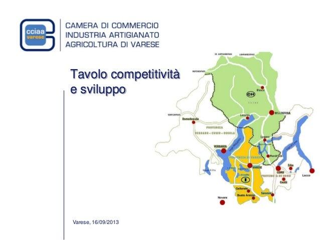 Varese, 16/09/2013 Tavolo competitività e sviluppo