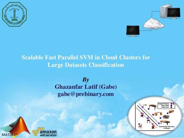 Svm on cloud  (presntation)