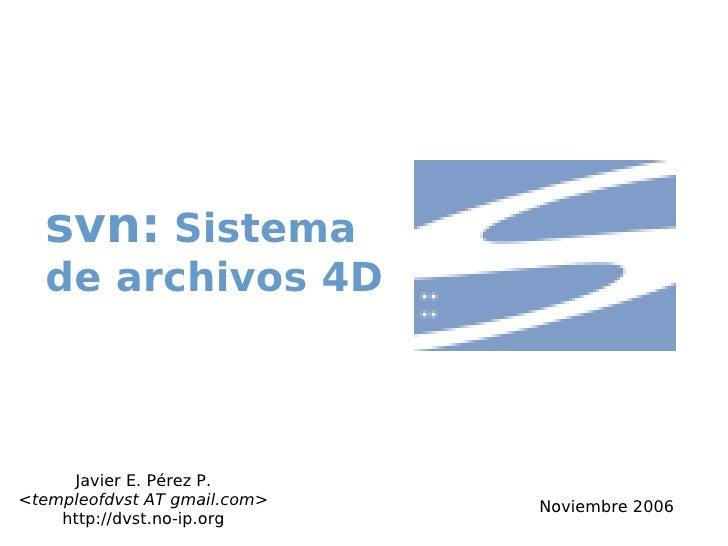 Svn: Sistema de archivos 4d