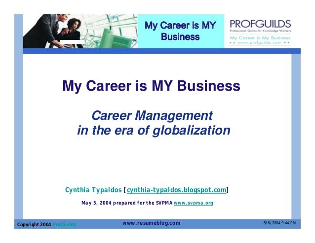 My Career is MY                                                      Business                   My Career is MY Business  ...