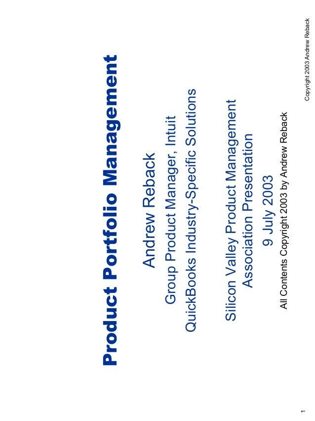 Product Portfolio Management                   Andrew Reback           Group Product Manager, Intuit       QuickBooks Indu...