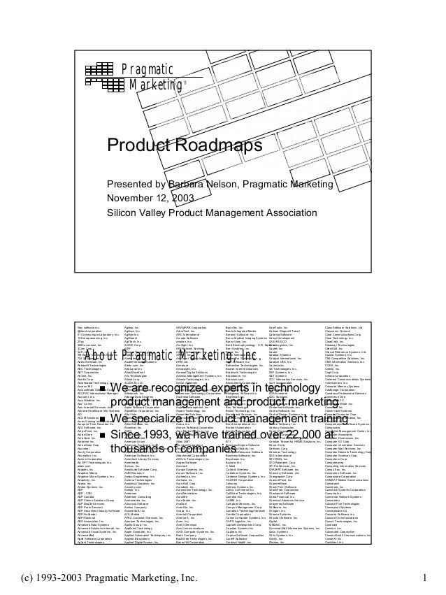 Pragmatic                                                  Marketing                                 ®                    ...