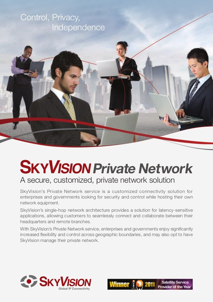 SkyVision Private Network - Secure, efficient private enterprise network management