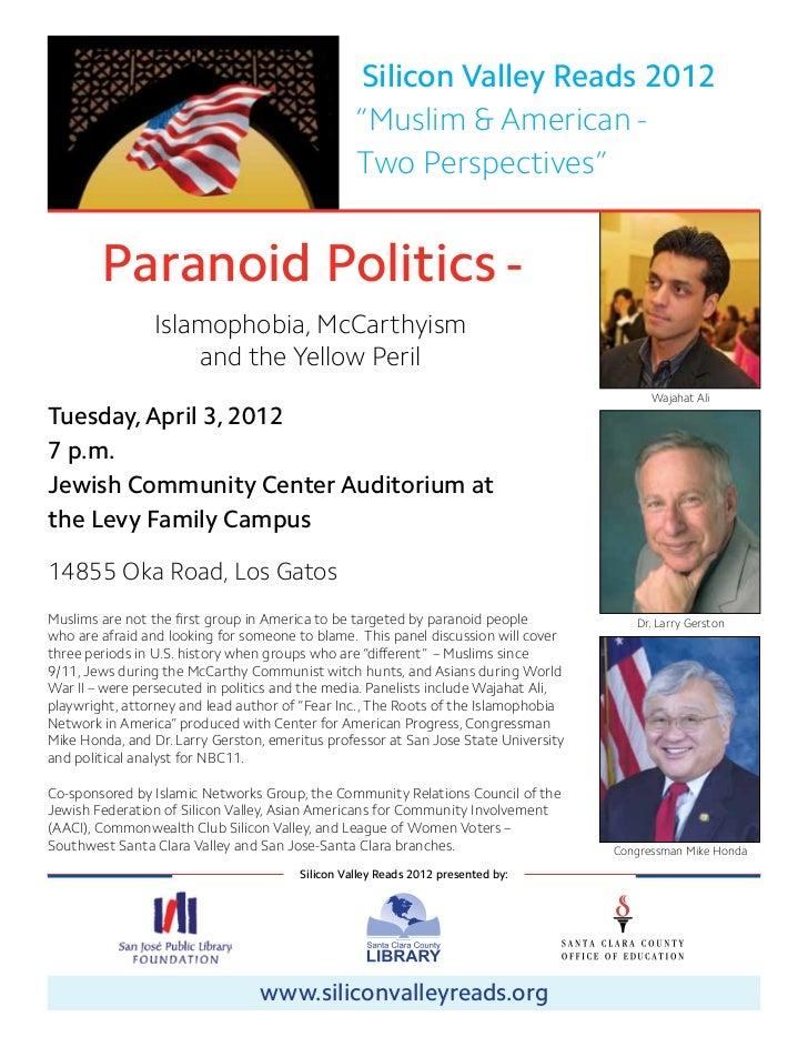 Paranoid Politics April 3