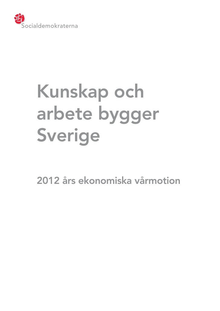 S vårmotion 2012