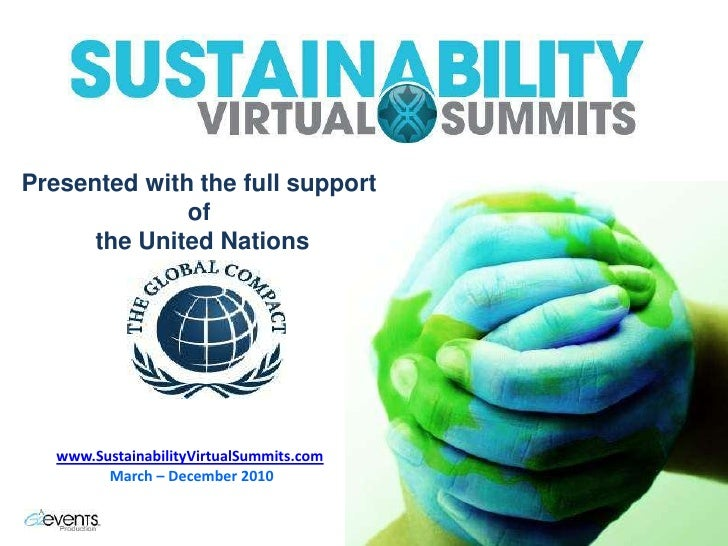 Sustainability Virtual Summits: Smart ICT 23-25 March 2010