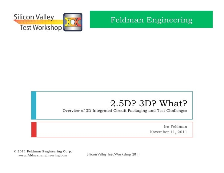 Silicon Valley Test Workshop  - 2.5D-3D What - Ira Feldman 111111