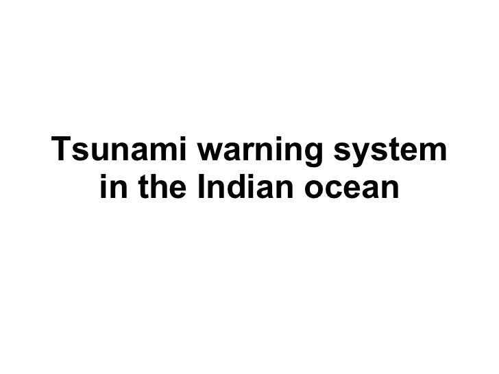 Tsunami warning system  in the Indian ocean