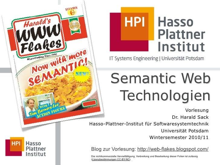 13 Semantic Web Applications 01 , Semantic Web Technologies WS 2010/11