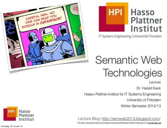 (13) Semantic Web Technologies - Linked Data & Semantic Search