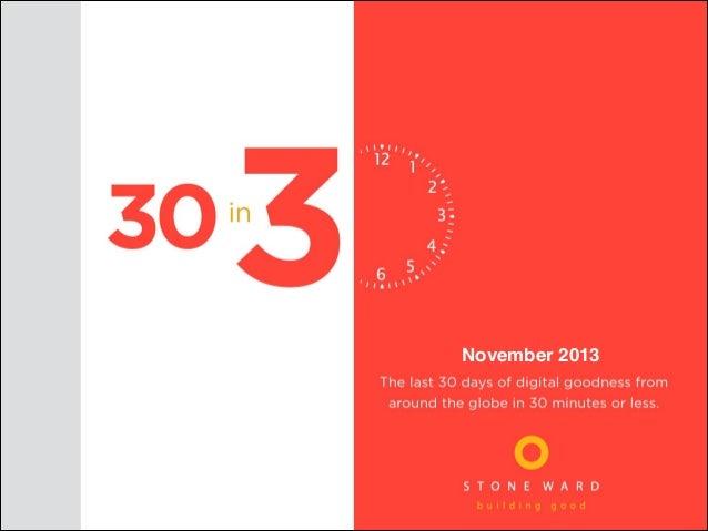 Stone Ward 30 in 30 November 2013