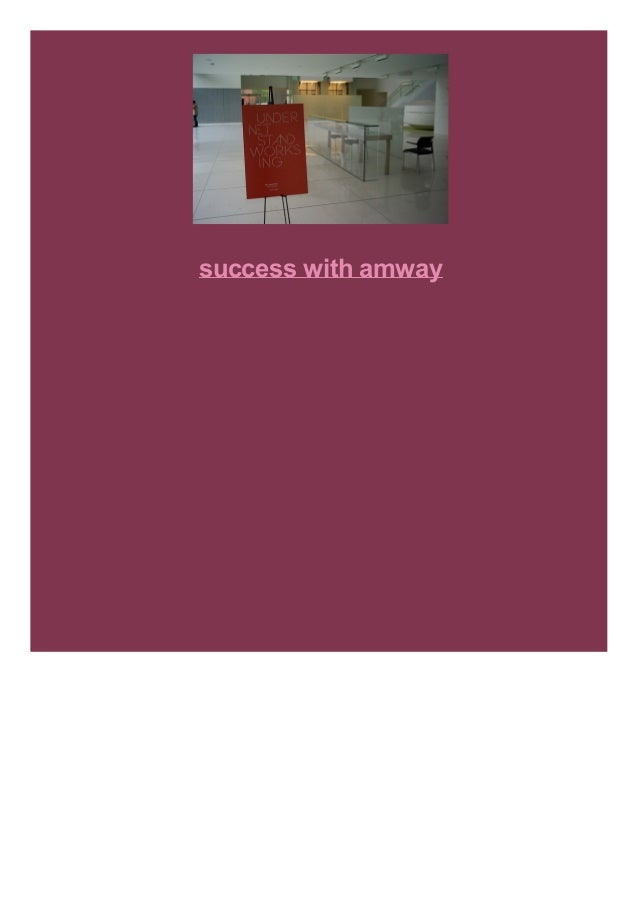 success with amway