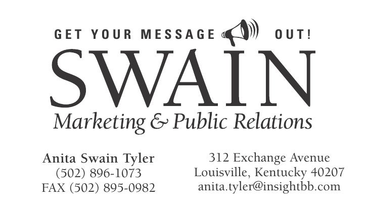 GET YOUR MESSAGE                 OUT!Anita Swain Tyler       312 Exchange Avenue  (502) 896-1073     Louisville, Kentucky ...
